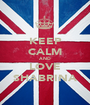 KEEP CALM AND LOVE SHABRINA - Personalised Poster A1 size
