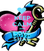 KEEP CALM AND LOVE SHAE - Personalised Poster A1 size
