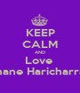 KEEP CALM AND Love  Shane Haricharran - Personalised Poster A1 size