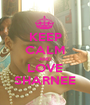 KEEP CALM AND LOVE SHARNEE - Personalised Poster A1 size