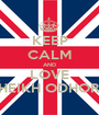 KEEP CALM AND LOVE SHEIKH ODHORA - Personalised Poster A1 size