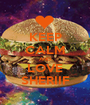 KEEP CALM AND LOVE SHERIIF - Personalised Poster A1 size