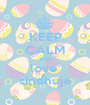 KEEP CALM AND love  sindhuja - Personalised Poster A1 size