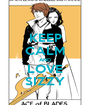 KEEP CALM AND LOVE SIZZY - Personalised Poster A1 size