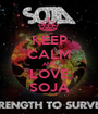 KEEP CALM AND LOVE SOJA - Personalised Poster A1 size