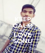 KEEP CALM AND LOVE SONU - Personalised Poster A1 size