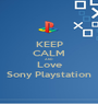 KEEP CALM AND Love Sony Playstation - Personalised Poster A1 size