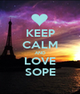 KEEP CALM AND LOVE SOPE - Personalised Poster A1 size