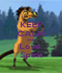 KEEP CALM AND Love  Spirit - Personalised Poster A1 size