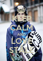 KEEP CALM AND LOVE STÅLE - Personalised Poster A1 size