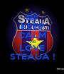 KEEP CALM AND LOVE STEAUA ! - Personalised Poster A1 size