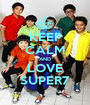 KEEP CALM AND LOVE SUPER7 - Personalised Poster A1 size