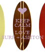 KEEP CALM AND LOVE SURF + ASHTON - Personalised Poster A1 size