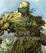 KEEP CALM AND LOVE SWAMP THING - Personalised Poster A1 size