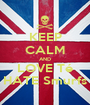 KEEP CALM AND LOVE Té HATE Smurfs - Personalised Poster A1 size