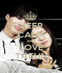 KEEP CALM AND LOVE TAEUN - Personalised Poster A1 size