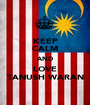 KEEP CALM AND LOVE TANUSH WARAN - Personalised Poster A1 size