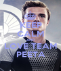 KEEP CALM AND LOVE TEAM PEETA - Personalised Poster A1 size