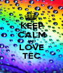 KEEP CALM AND LOVE TEC - Personalised Poster A1 size