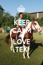 KEEP CALM AND LOVE TEX - Personalised Poster A1 size