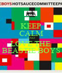 KEEP CALM AND LOVE THE  BEASTIE BOYS - Personalised Poster A1 size
