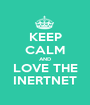 KEEP CALM AND LOVE THE INERTNET - Personalised Poster A1 size