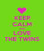 KEEP CALM AND LOVE THE TWINS - Personalised Poster A1 size