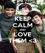KEEP CALM AND LOVE THEM <3 - Personalised Poster A1 size