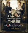 KEEP CALM and LOVE THESE  THREE  - Personalised Poster A1 size