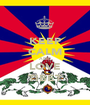 KEEP CALM AND LOVE TIBET - Personalised Poster A1 size
