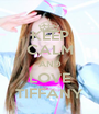 KEEP CALM AND LOVE TIFFANY - Personalised Poster A1 size