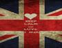 KEEP CALM AND LOVE  TIKO  RIZKIYA - Personalised Poster A1 size
