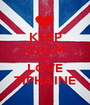 KEEP CALM AND LOVE TIPHAINE - Personalised Poster A1 size