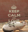 KEEP CALM AND LOVE TOMCIO - Personalised Poster A1 size