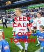 KEEP CALM AND LOVE TORBEN - Personalised Poster A1 size