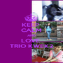 KEEP  CALM AND LOVE  TRIO KWEK2 - Personalised Poster A1 size
