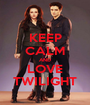 KEEP CALM AND LOVE TWILIGHT - Personalised Poster A1 size