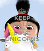 KEEP CALM AND LOVE UNICORNS - Personalised Poster A1 size