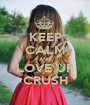 KEEP CALM AND LOVE UR CRUSH - Personalised Poster A1 size