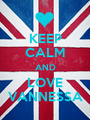 KEEP CALM AND LOVE VANNESSA - Personalised Poster A1 size