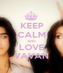 KEEP CALM AND LOVE VAVAN - Personalised Poster A1 size