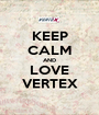 KEEP CALM AND LOVE VERTEX - Personalised Poster A1 size