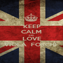 KEEP CALM AND LOVE VIOLA  FOSCHI  - Personalised Poster A1 size