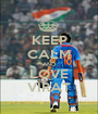KEEP CALM AND LOVE VIRAT - Personalised Poster A1 size
