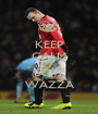 KEEP CALM AND LOVE WAZZA - Personalised Poster A1 size
