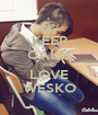 KEEP CALM AND LOVE WESKO - Personalised Poster A1 size