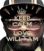 KEEP CALM AND LOVE WILL.I.AM - Personalised Poster A1 size