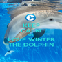 KEEP CALM AND LOVE WINTER THE DOLPHIN - Personalised Poster A1 size