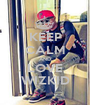 KEEP CALM AND LOVE WIZKID - Personalised Poster A1 size