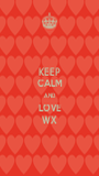 KEEP CALM AND LOVE WX - Personalised Poster A1 size